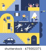 in the house vector... | Shutterstock .eps vector #675002371