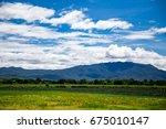quiet green meadow   Shutterstock . vector #675010147