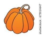 halloween pumpkin vector. | Shutterstock .eps vector #675014647