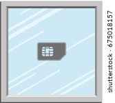 flat sim card illustration.
