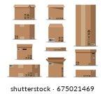 pile cardboard boxes set....