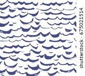 seamless pattern waves... | Shutterstock .eps vector #675021514