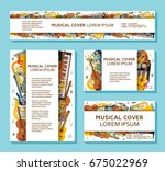 music templates and banners... | Shutterstock .eps vector #675022969