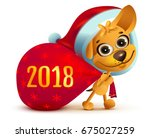 yellow dog symbol of year 2018. ... | Shutterstock . vector #675027259