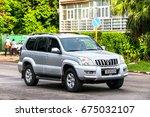 Small photo of HAVANA, CUBA - JUNE 6, 2017: Motor car Toyota Land Cruiser Prado 120 in the city street.