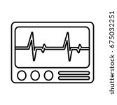 cardiac monitor device icon | Shutterstock .eps vector #675032251
