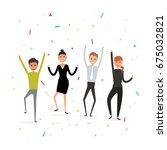 successful business teamwork...   Shutterstock .eps vector #675032821