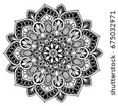 mandalas for coloring book.... | Shutterstock .eps vector #675032971