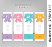 infographic template of four... | Shutterstock .eps vector #675045844