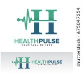 h health pulse letter logo... | Shutterstock .eps vector #675047254