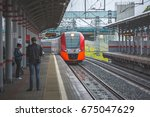 moscow  mcc  shelepiha station  ... | Shutterstock . vector #675047629