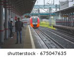 moscow  mcc  shelepiha station  ... | Shutterstock . vector #675047635