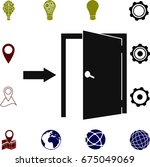 door icons  vector best flat... | Shutterstock .eps vector #675049069