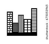 buildings cityscape scene icon