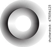 lines in circle form . vector... | Shutterstock .eps vector #675056125