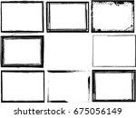 set of grunge black and white... | Shutterstock .eps vector #675056149