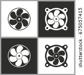 fan   black and white vector... | Shutterstock .eps vector #675057415