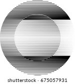 circle logo with lines.unusual... | Shutterstock .eps vector #675057931