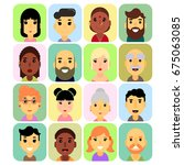 the icons are rectangular in...   Shutterstock . vector #675063085