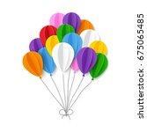 paper balloons. vector... | Shutterstock .eps vector #675065485