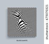 waveform background. surface... | Shutterstock .eps vector #675070321