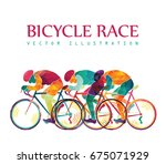 cycling race colorful... | Shutterstock .eps vector #675071929
