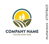 agriculture logo template   Shutterstock .eps vector #675078625