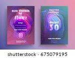 electronic music fest poster.... | Shutterstock .eps vector #675079195
