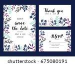 wedding invitation card...   Shutterstock .eps vector #675080191