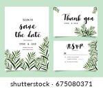 wedding invitation card... | Shutterstock .eps vector #675080371