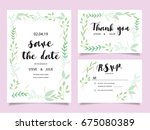 wedding invitation card... | Shutterstock .eps vector #675080389
