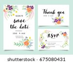 wedding invitation card... | Shutterstock .eps vector #675080431