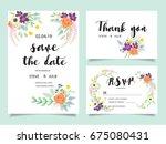 wedding invitation card... | Shutterstock .eps vector #675080431