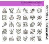 business management elements  ... | Shutterstock .eps vector #675083209