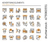 advertising elements   thin... | Shutterstock .eps vector #675083551