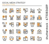 social media strategy elements  ... | Shutterstock .eps vector #675083689