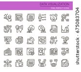 data visualization elements  ... | Shutterstock .eps vector #675083704