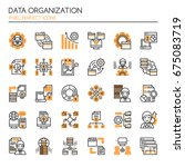 data organization elements  ... | Shutterstock .eps vector #675083719