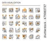data visualization elements  ... | Shutterstock .eps vector #675083737