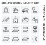 steel and metal production... | Shutterstock .eps vector #675086617