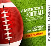 american football poster or... | Shutterstock .eps vector #675087337