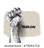 international youth day 12... | Shutterstock .eps vector #675091714