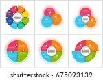 infographics template set | Shutterstock .eps vector #675093139