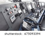 ship control panel in  captain... | Shutterstock . vector #675093394
