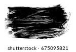 brush stroke and texture. smear ... | Shutterstock . vector #675095821