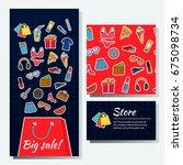 advertising set for business  ... | Shutterstock .eps vector #675098734