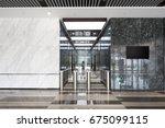 entrance corridor with... | Shutterstock . vector #675099115