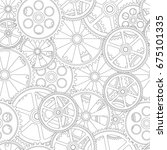 figure gears on a white... | Shutterstock . vector #675101335