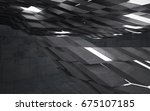 empty dark abstract concrete... | Shutterstock . vector #675107185