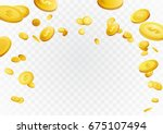 fortune golden dollar coins... | Shutterstock .eps vector #675107494